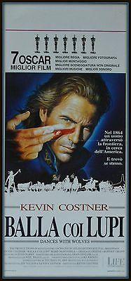 locandina BALLA COI LUPI  DANCES WITH WOLVES MARY McDONNELL KEVIN COSTNER