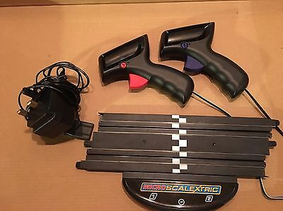 Micro Scalextric  Set Of 2 Controllers Black, Power Base and Plug Adaptor