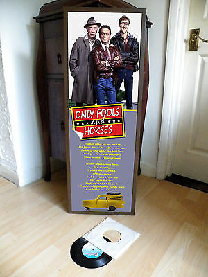 Only Fools & Horses Theme Song Promotional Poster Lyric Sheet,del Boy,rodney