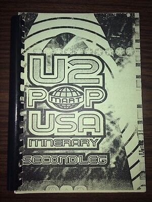 Vintage Rare U2 Pop Mart USA Second Leg ~Tour Itinerary~ 1997