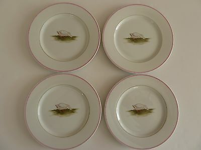 Fitz & Floyd Plates With Goose, Basse-cour, 1981, (4 Plates), Dishes