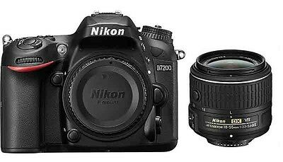 Nikon D7200 24.2MP DX-Format Digital SLR Body (Black) + 18-55mm VR ii New