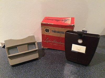 Vintage Sawyer View-Master Stereoscope & Rare Light Attachment Working