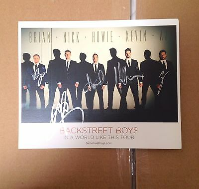 Backstreet Boys Autographed In a World Like This 8x10 Photo