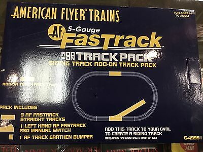 American Train Flyers S-Gauge Fast Track Add-On Track Pack 49991