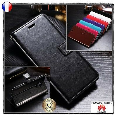 Etui porte cartes coque housse cuir PU leather Wallet case cover HUAWEI Mate 9