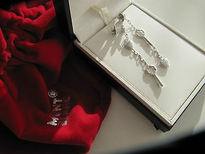 Montblanc ewellery ear rings silver sterling with box and bag