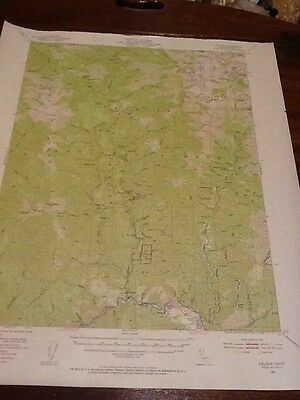 DEPT OF INTERIOR 1951 TOPO MAP HELENA, CALIF. LOT #21 Trinity Nat. Forest