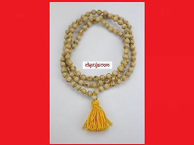 Natural Tulsi Basil Beads Handmade Hindu Prayer Mala 108+1 Meditation Yoga mala