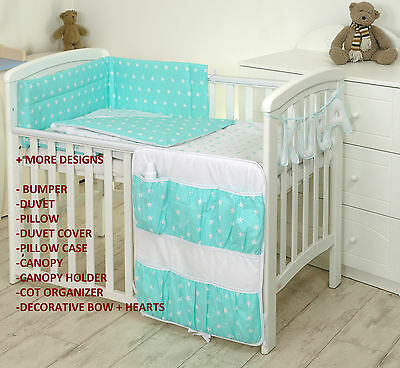 MINT STARS BABY BEDDING SET COT or COT BED MULTIAUCTION +MORE DESIGNS