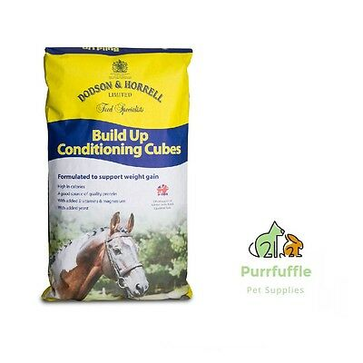 20Kg Dodson & Horrell Build Up Conditioning Cubes Horse Food Feed + Vitamins