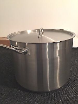 40 QT Stock POT and LID Stainless Steel
