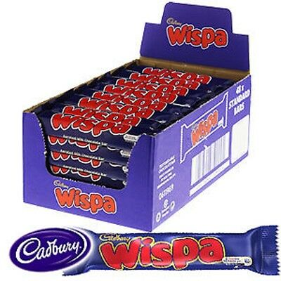 CADBURY WISPA CHOCOLATE BAR 24 x 36g