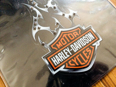 Harley Davidson Sticker Black And Silver Cling Bling 3D Decal