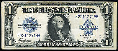 """Fr 237 1923 $1 One Dollar """"Horseblanket"""" Silver Certificate About Unc"""