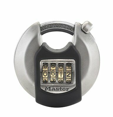 Master Lock Excell 70mm stainless steel outdoor combination discus padlock with