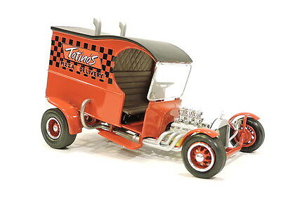 1927 Ford C Cab Totino`s Pizza Delivery Scale Auto Sketch Built 1/25 Model Car
