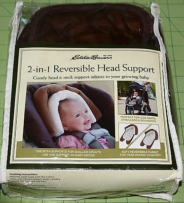 Eddie Bauer 2-in-1 Reversible Head Support for car seats, strollers, & bouncers