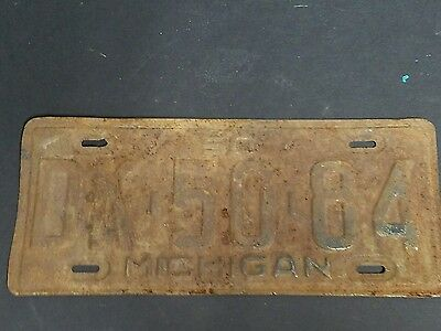 1950 Michigan licence plate