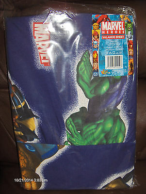 Marvel Heroes Valance Sheet NEW in pkg. 90 cm x 190 cm Polyester/Cotton