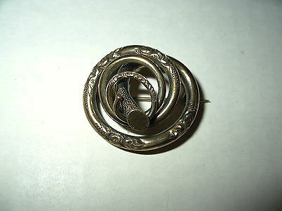 Vintage Victorian GF Goldtone Scrolling Coiled Sash Brooch Pin Pendant - C Clasp