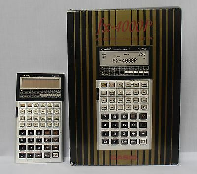 New Vintage Casio Fx-4000P Programmable Calculator With Original Case & Manual