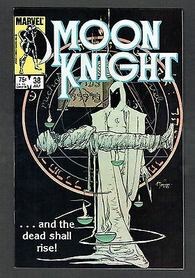 Moon Knight #38 Marvel Comics 1984 VF+ Rare Last Issue Tough Blk Cvr High Grade