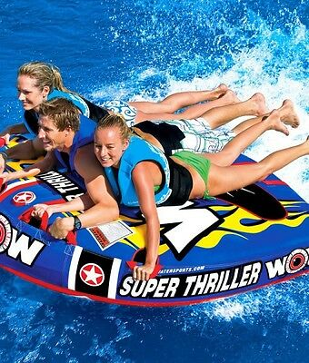 WOW Watersports SUPER THRILLER - Inflatable Tube Biscuit Water Toy