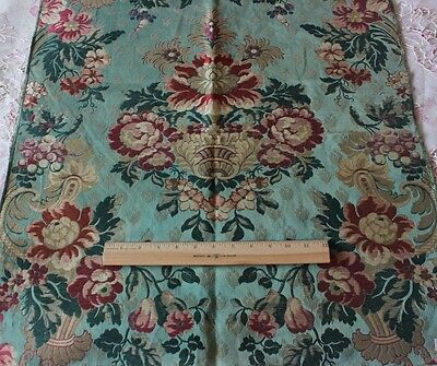 Stunning French Antique 19thC Silk & Metallic Home Brocade Fabric Textile Sample