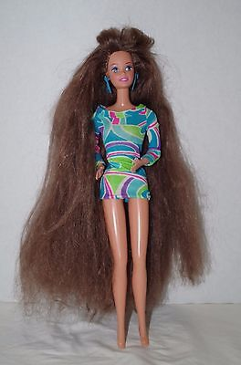 Barbie Doll Super long Hair  With long Hair And No Shoes