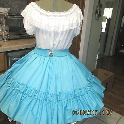 S-Sb-#6-2 Piece Square Dance Dress ,+ Belt