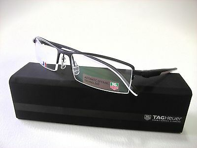 TAG HEUER TH 0821 011 Automatic Black/White 56mm Eyeglasses NEW AUTHENTIC