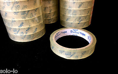 30 Sticky Clear Cello Tape 24mm x 40M /each Transparent NEW (P2)