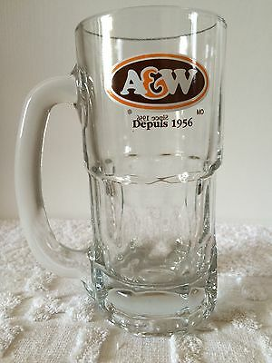 A&W Since 1956 Root Beer Heavy Handle Tall Glass Mug