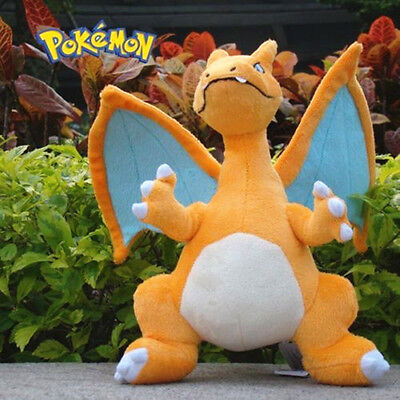 Pokemon 12'' Mega Charizard Plush Toy Kids Stuffed Animal Doll Nintendo Boys Toy