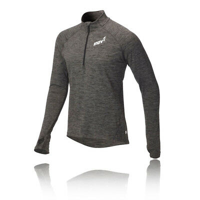 Inov8 ATC Mens Grey Long Sleeve Half Zip Running Training Sports Top