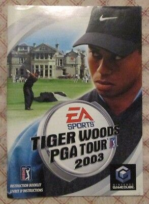Nintendo Gamecube - Tiger Woods PGA Tour 2003 (French manual only)