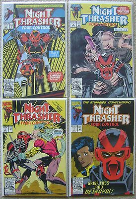Night Thrasher Four Control #1-4 Marvel Comics Complete Set 1992 Nm Unread