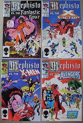 MEPHISTO VS. #1-4 X-MEN AVENGERS + Marvel Comics COMPLETE SET 1987 NM+ UNREAD