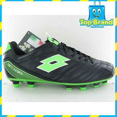 Lotto Mens Football Soccer Boots Training Sports Stadio 700 FGT L Black Mint