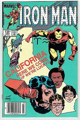 Iron Man #184 Marvel Comics Copper Age 1984 VF/NM Rare Can Price Variant Vibrant
