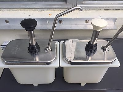 Two Condiment pumps Lot Server model FP-200 80030 stainless steel Made In USA