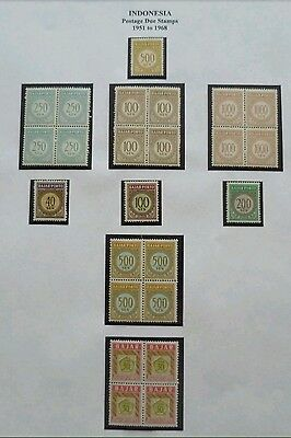 Republic Of Indonesia 1951-1958 Postage Due Stamps UMM stamps