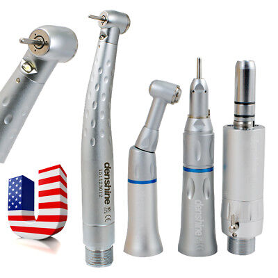 Dental High Speed E-generator LED Handpiece Push 2 Hole Low Kit Turbine Fit KAVO