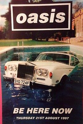 Oasis Be Here Now Promo Poster
