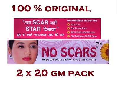2 x 20 gm NO SCARS Skin Care CREAM Comprehensive Therapy Skin Care Free Shipping