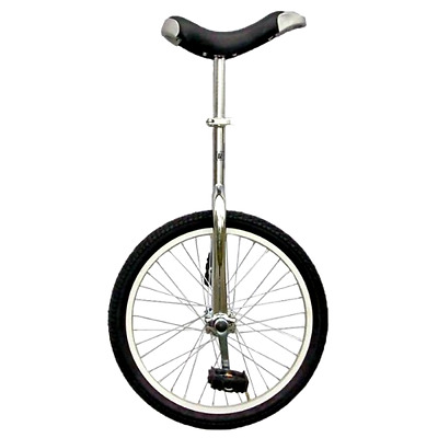 "18/"" Yellow Unicycle Cycling Scooter Circus Bike Skidproof Tire Balance Exercise"