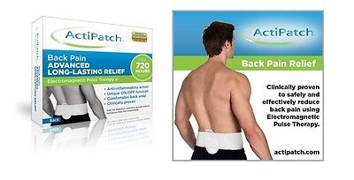 ActiPatch Drug Free ElectroMagnetic Back Pain Fast Relief *2 Year Warranty* New