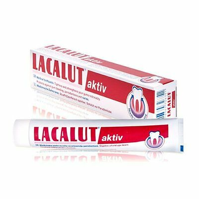 LACALUT AKTIV - Toothpaste - Stops Bleeding, Prevents Periodontitis - 75 ml.