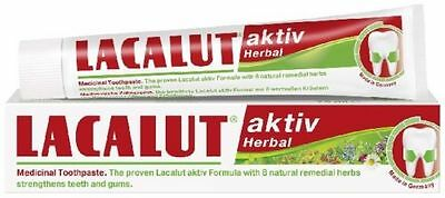 Lacalut Aktiv Herbal Toothpaste - Tightens and Strengthens, Preventive - 75 ml.